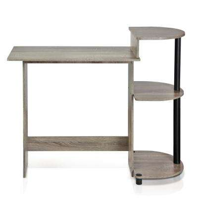 Compact French Oak Grey Computer Desk