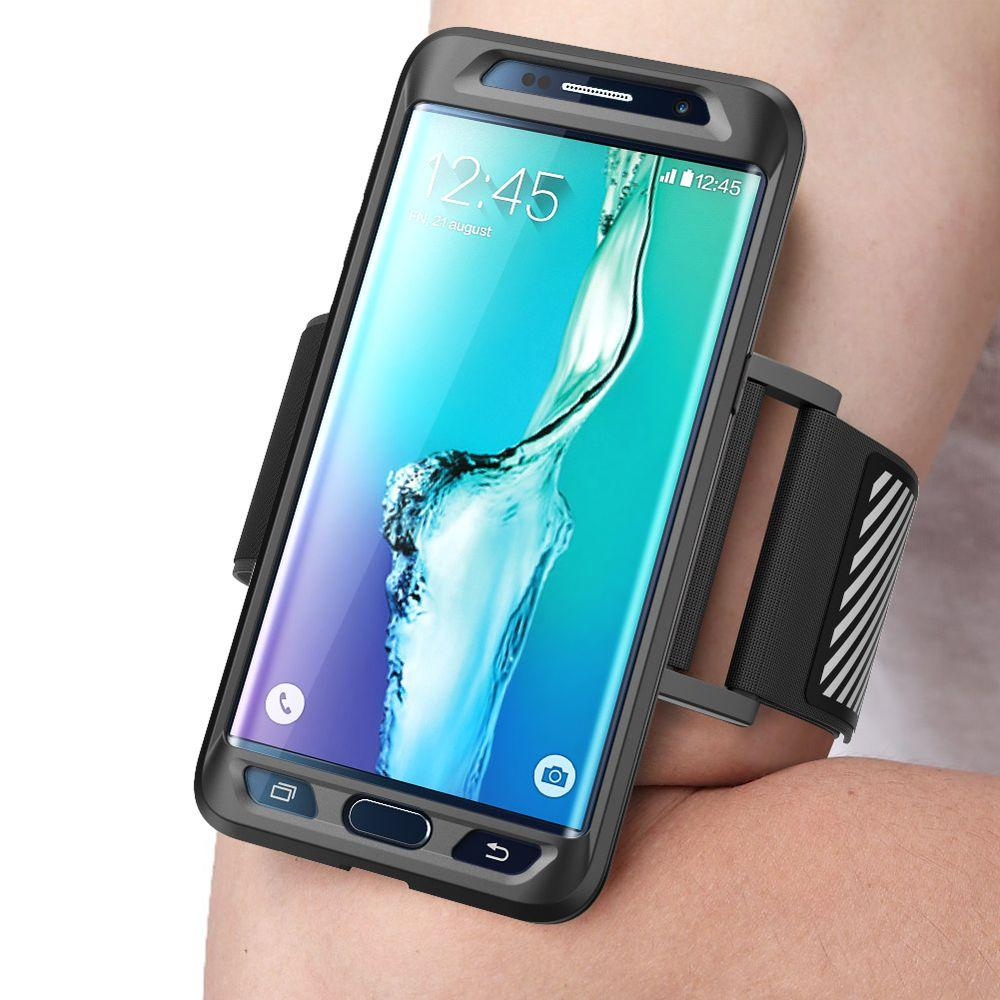 low priced 52edf 66820 SUPCASE Galaxy S6 Edge Plus Flexible Sport Case and Armband Combo, Black