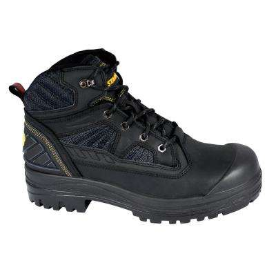 Assure Men's Size 13 Black Leather/Mesh Steel Toe 6 in. Work Boot