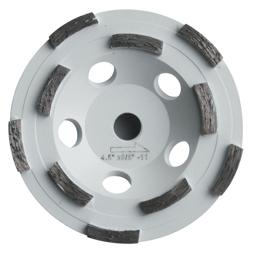 4.5 in. Double Row Diamond Cut Off Wheel for Sanding Thermo-Plastic