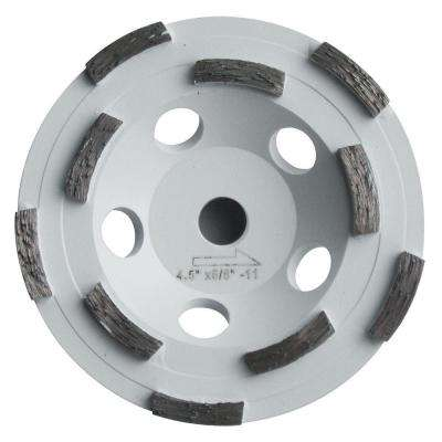 4.5 in. Double Row Diamond Cut Off Wheel for Sanding Thermo-Plastic Protective Paint Finishes on Concrete and Fiberglass