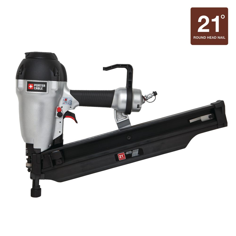 Porter Cable 21 Degree 3 12 In Full Round Framing Nailer Fr350b