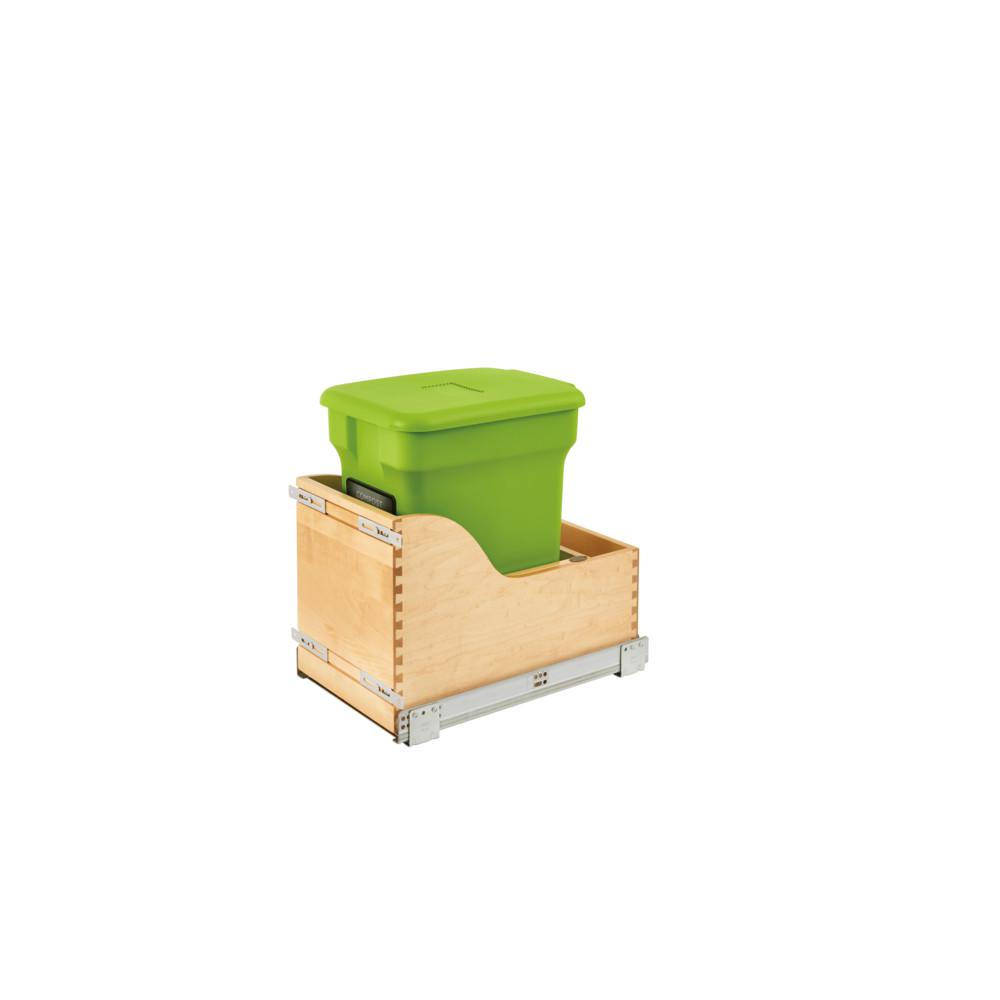 Rev-A-Shelf Wood Bottom Mount Pull-Out Compost Unit
