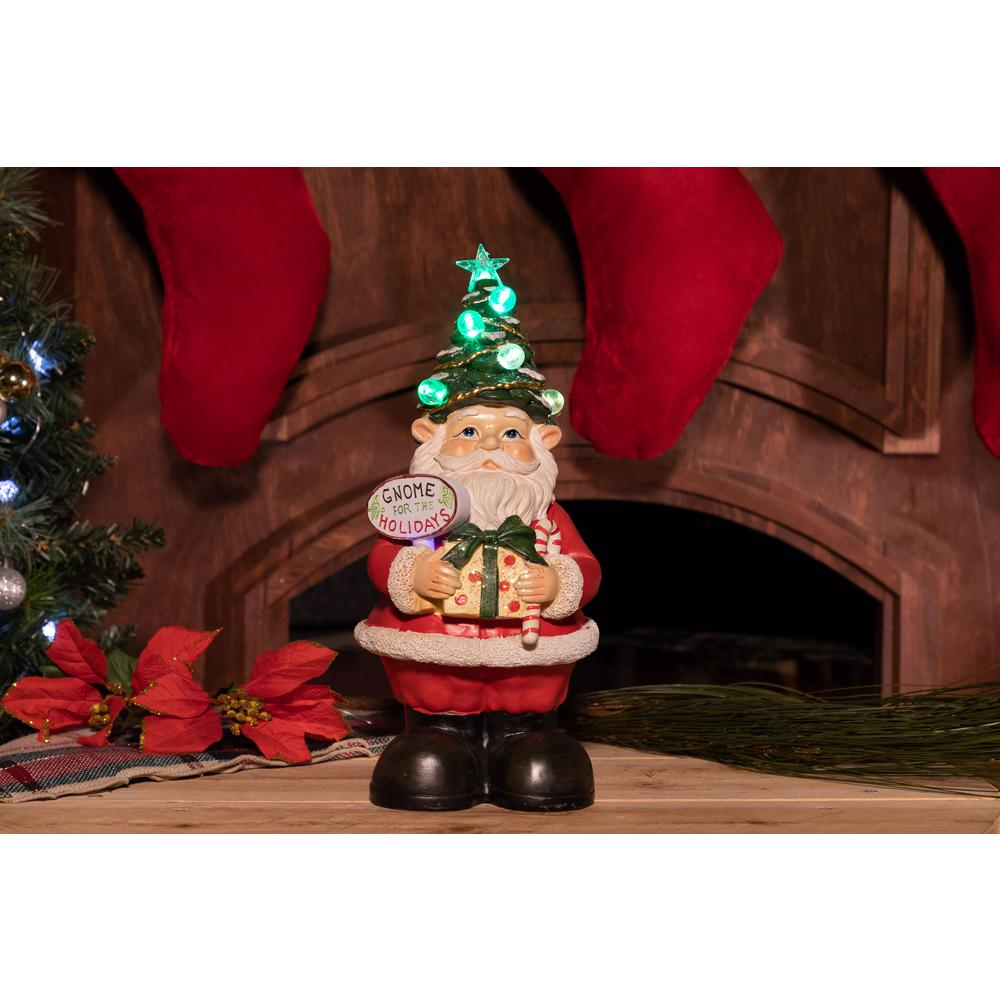 christmas gnome status with color changing led lights - Gnome Christmas Decorations