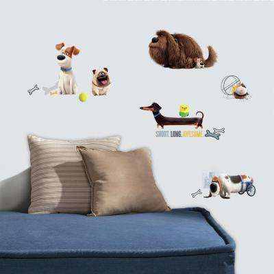 5 in. W x 11.5 in. H Secret Life of Pets Boys 21-Piece Peel and Stick Wall Decal