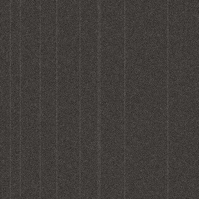Fixed Attitude Charcoal Patterned 24 in. x 24 in. Carpet Tile (24 Tiles/Case)