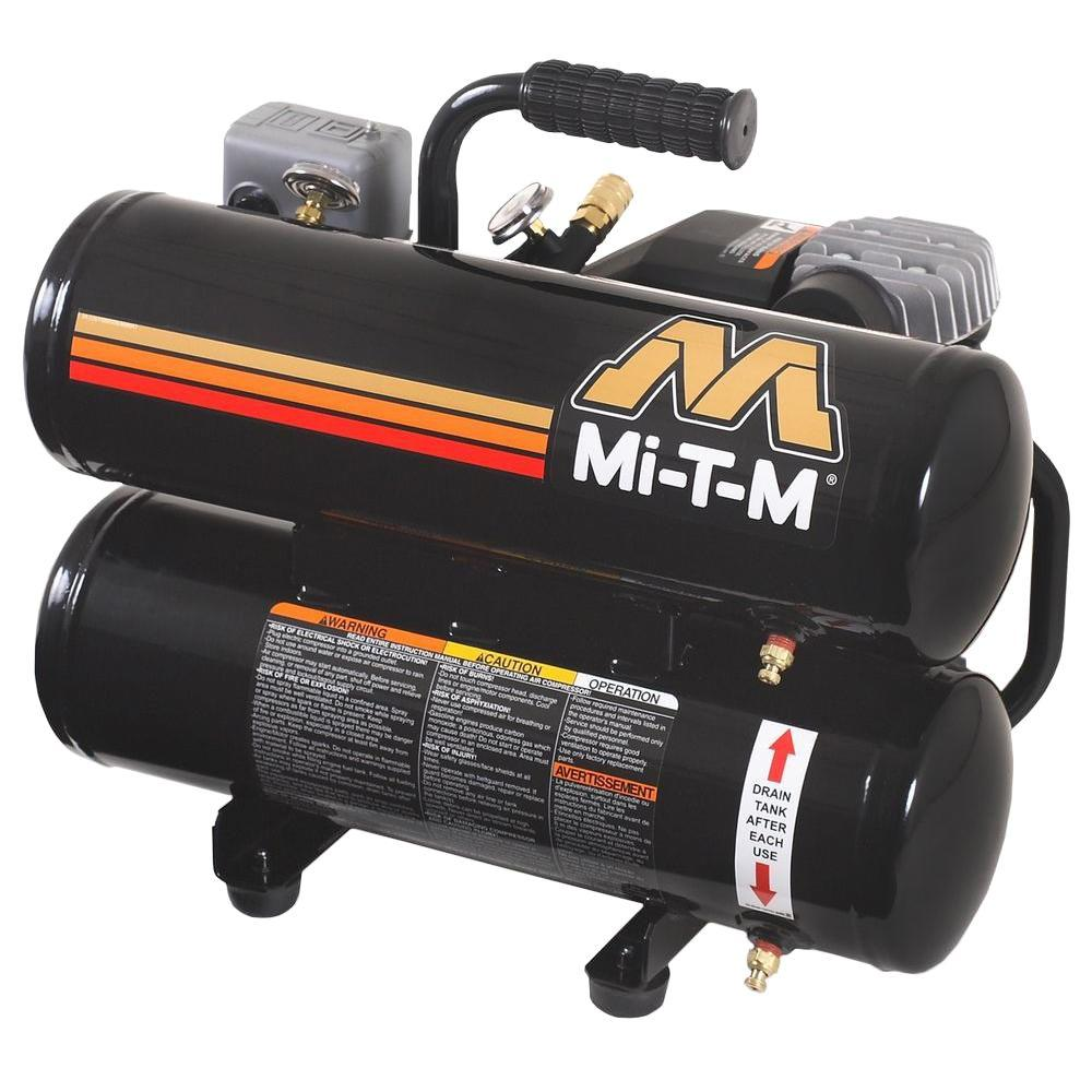 Mi-T-M 120-Volt 2 HP Portable Hand Carry Air Compressor