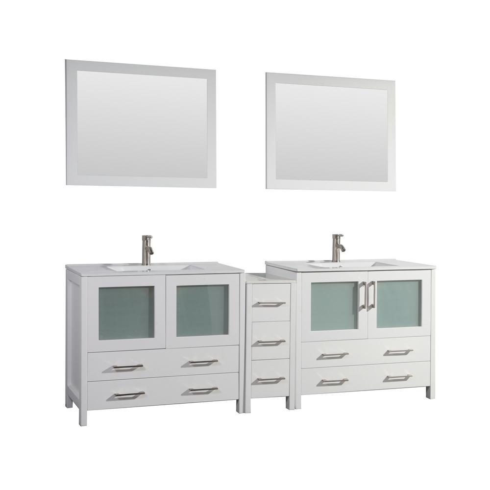 Vanity Art Brescia 84 In W X 18 In D X 36 In H Bathroom Vanity In
