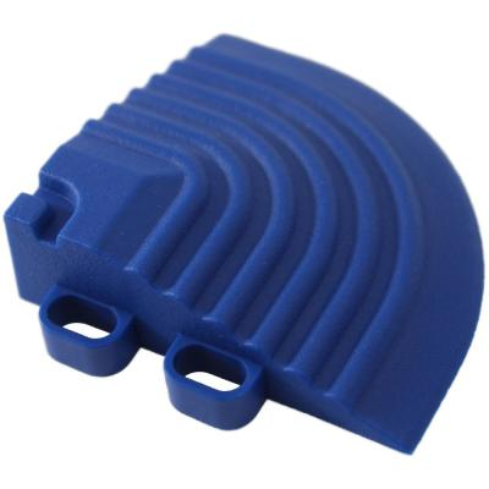 2.5 in. x 2.5 in. Royal Blue Corner Edging for 15.75 in. Swisstrax Modular Tile Flooring (2-Pack)