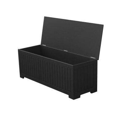 Sydney 36.75 gal. Black Recycled Plastic Commercial Grade Deck Box