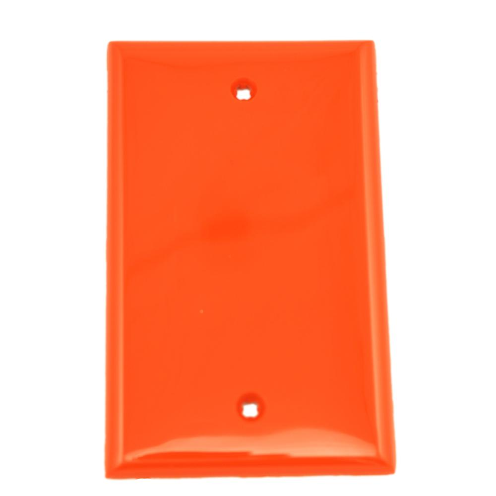 1-Gang No Device Blank Wallplate, Standard Size, Thermoplastic Nylon, Box Mount,