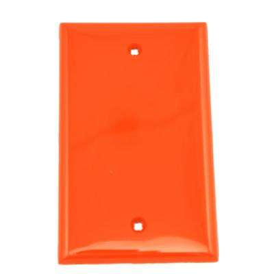 1-Gang No Device Blank Wallplate, Standard Size, Thermoplastic Nylon, Box Mount, Red