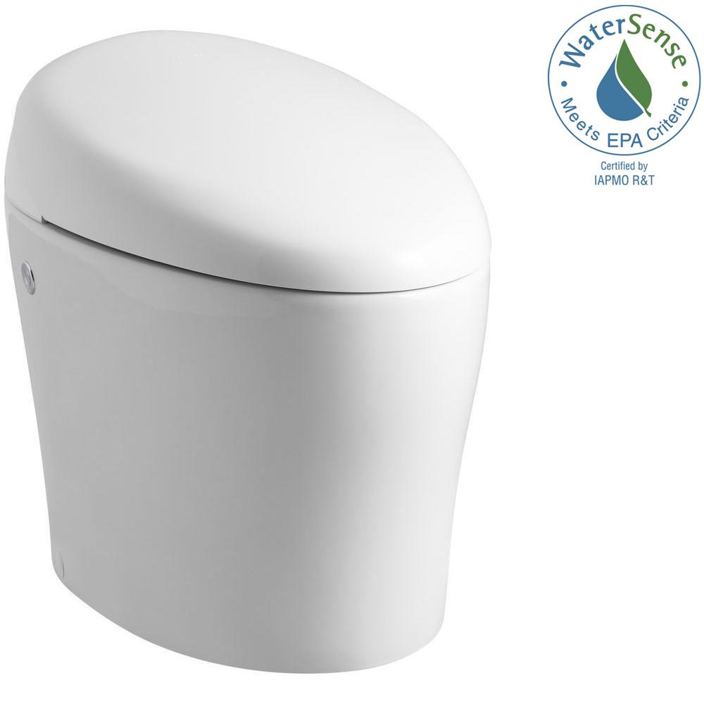 Karing 1-piece 1.28 GPF Single Flush Elongated Toilet in White