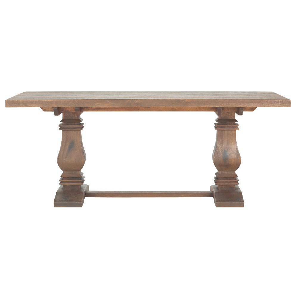 home decorators collection aldridge antique walnut dining table