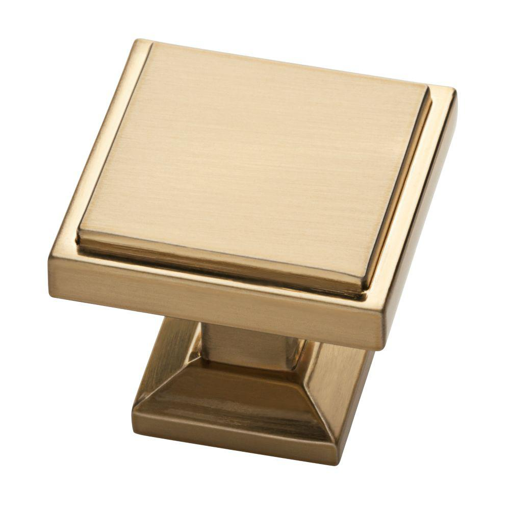 Liberty Classic Square 1-1/9 in. (28mm) Champagne Bronze Cabinet Knob