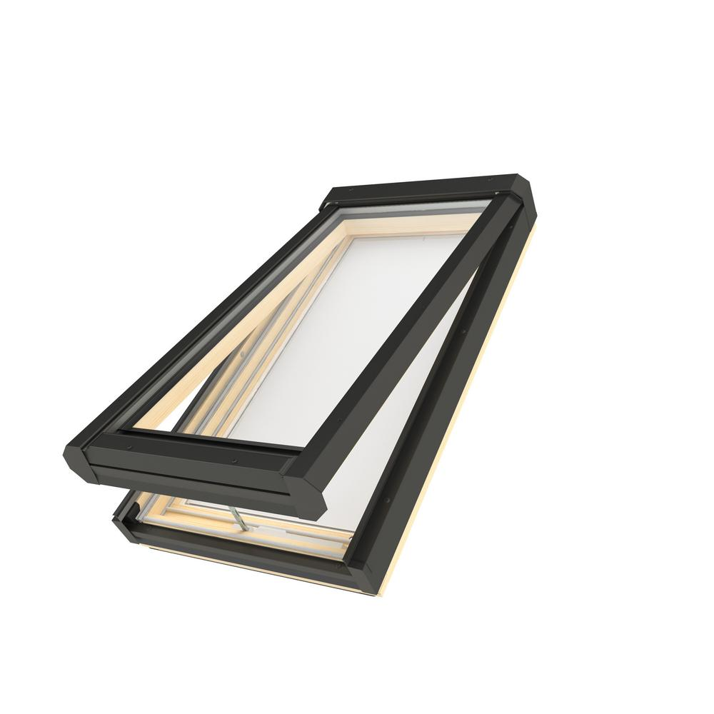 Fakro 46-1/2 in. x 45-1/2 in. Manual Venting Deck-Mounted Skylight with Tempered Low-E366 Glass