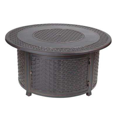Charming Bellante Woven Cast Aluminum LPG Fire Pit