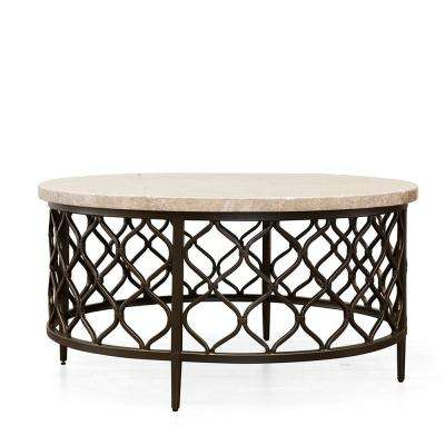 Round Stone Coffee Tables Accent Tables The Home Depot