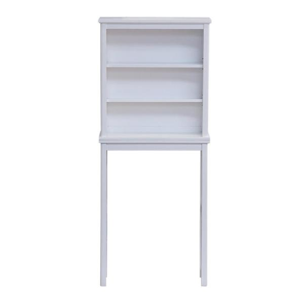 Dorset 27 in. W x 9 in. D x 66 in. H Over the Toilet Space Saver Storage with Open Shelves in White