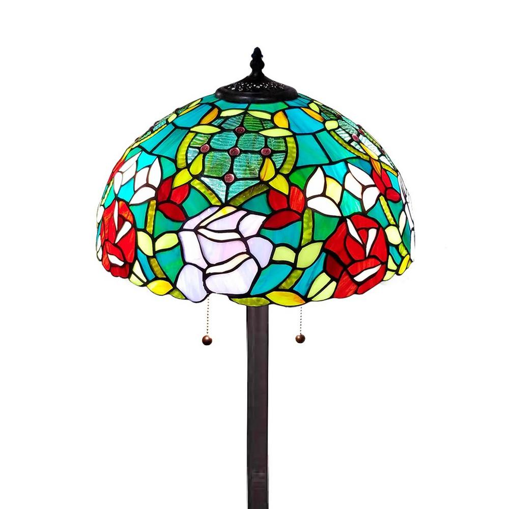 Amora lighting 61 in tiffany style roses floor lamp am084fl16 the amora lighting 61 in tiffany style roses floor lamp aloadofball Image collections