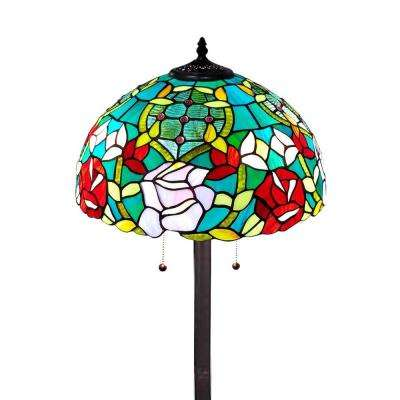 61 in. Tiffany Style Roses Floor Lamp