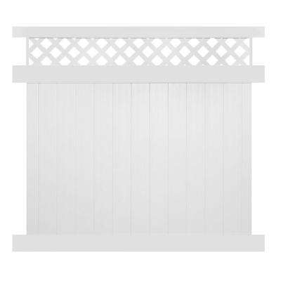 Ashton 6 ft. H x 6 ft. W White Vinyl Privacy Fence Panel