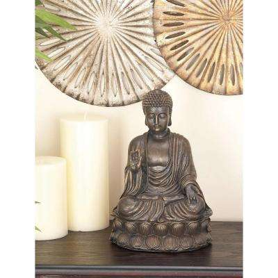 Sitting Buddha Polystone Sculpture