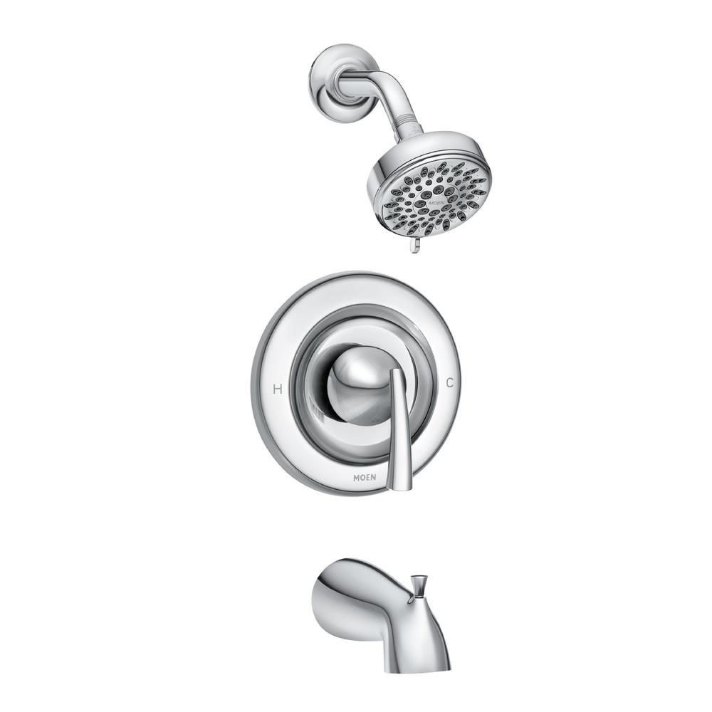 MOEN Essie Single-Handle 5-Spray Tub and Shower Faucet with Valve in Chrome (Valve Included)