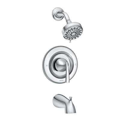 Essie Single-Handle 5-Spray Tub and Shower Faucet with Valve in Chrome (Valve Included)