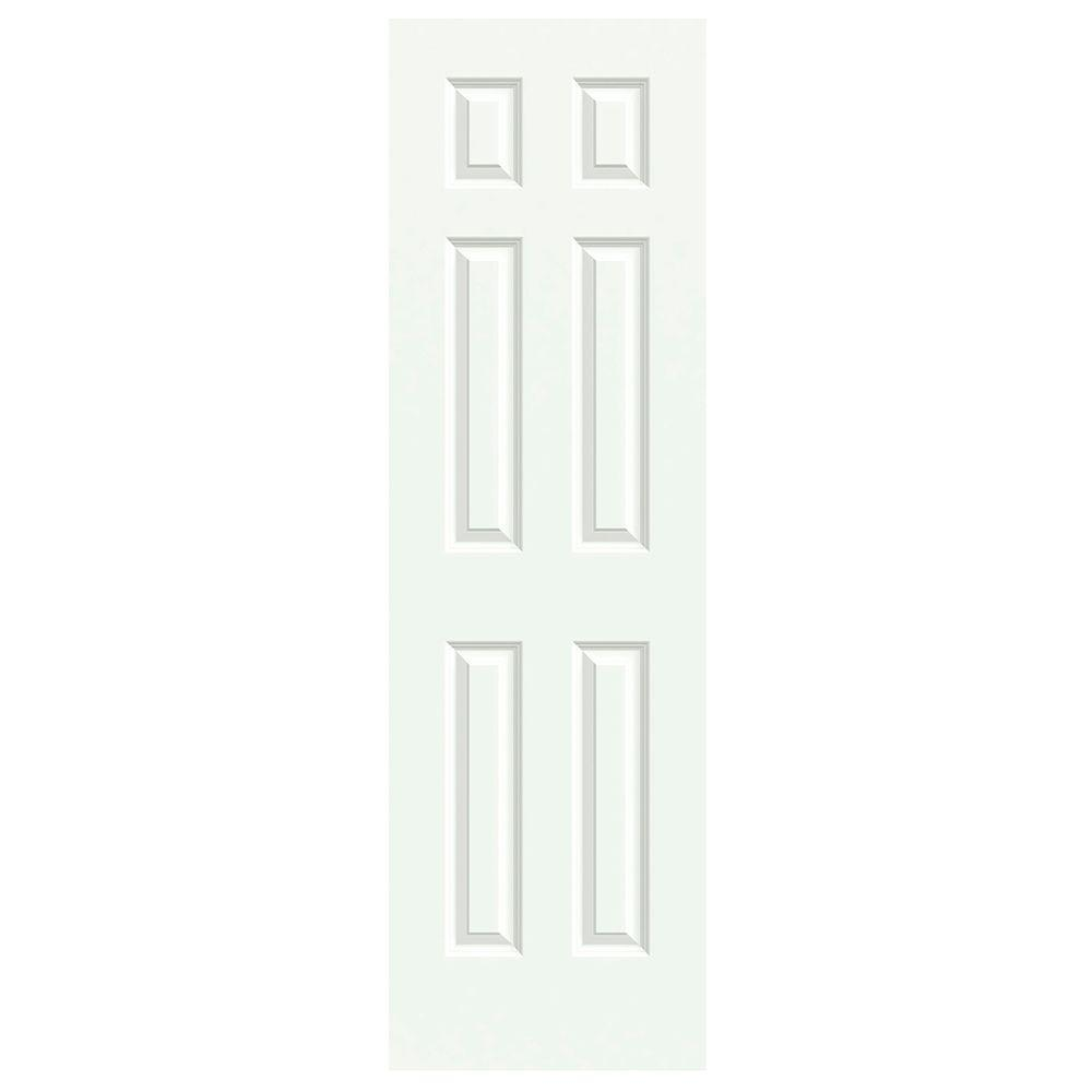JELD WEN 24 In. X 80 In. Colonist White Painted Smooth Molded Composite