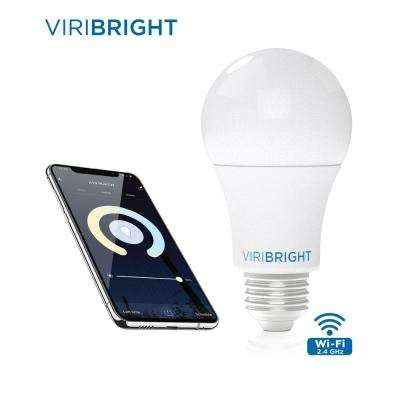 60-Watt Equivalent A19 White Ambiance 2700K Dimmable Wi-Fi Smart Connected LED Light Bulb
