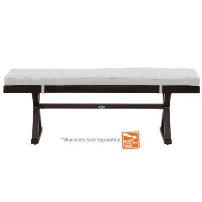 Woodbury Patio Bench with Cushions Included, Choose Your Own Color