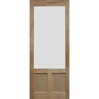 36 in. x 80 in. Elmwood Natural Pine Screen Door