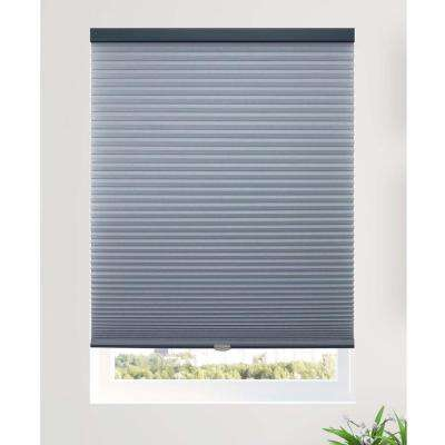 Cut-to-Width Ocean 9/16 in. Light Filtering Cordless Cellular Shade - 65.5 in. W x 64 in. L