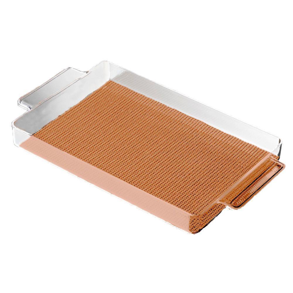 Kraftware Fishnet Rectangular Serving Tray in Toffee by Kraftware