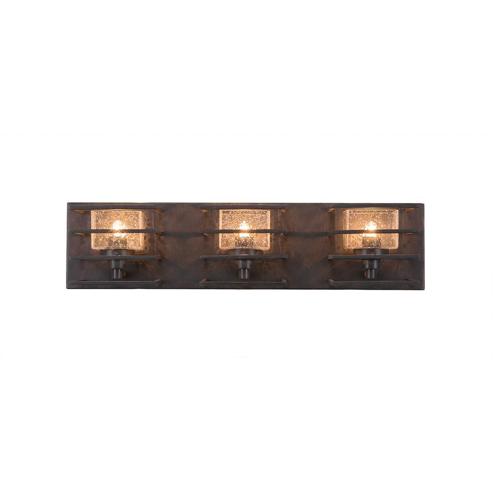 3-Light Dark Granite Bath Light