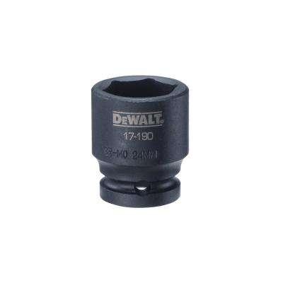 1/2 in. Drive 24 mm 6-Point Impact Socket
