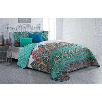 Livia 5-Piece Jade Queen Quilt Set