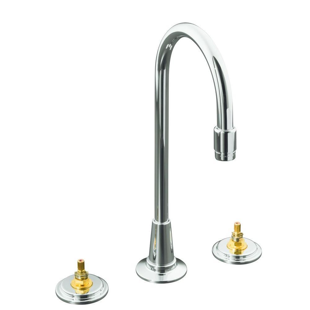 KOHLER Taboret 2-Handle Bar Faucet in Polished Chrome Less Handles