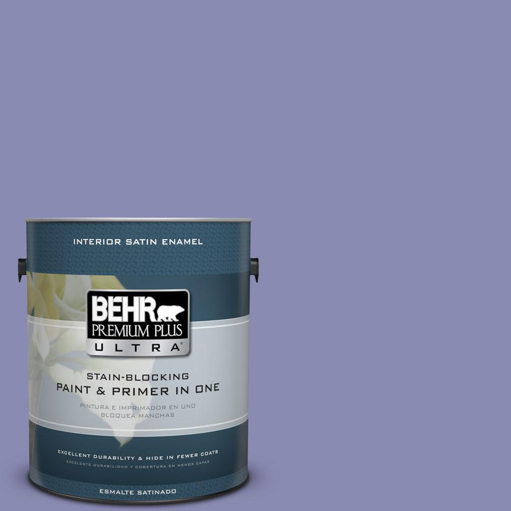 1-gal. #M550-5 Violet Aura Satin Enamel Interior Paint
