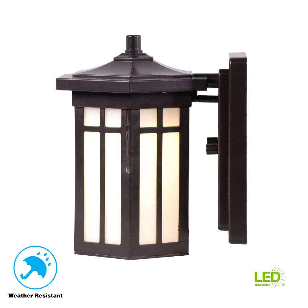 Antique Bronze Outdoor Led Small Wall Light