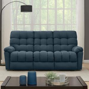 Magnificent Prolounger 3 Seat Tufted Recliner Sofa In Caribbean Blue Squirreltailoven Fun Painted Chair Ideas Images Squirreltailovenorg