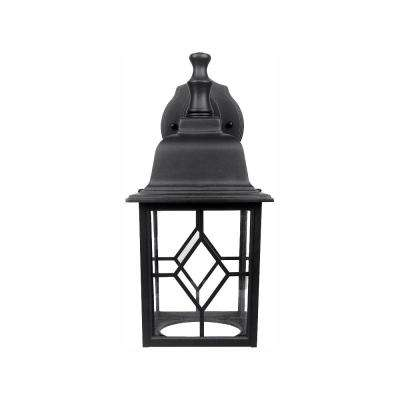 Matte Black Outdoor Integrated LED Wall Lantern Sconce
