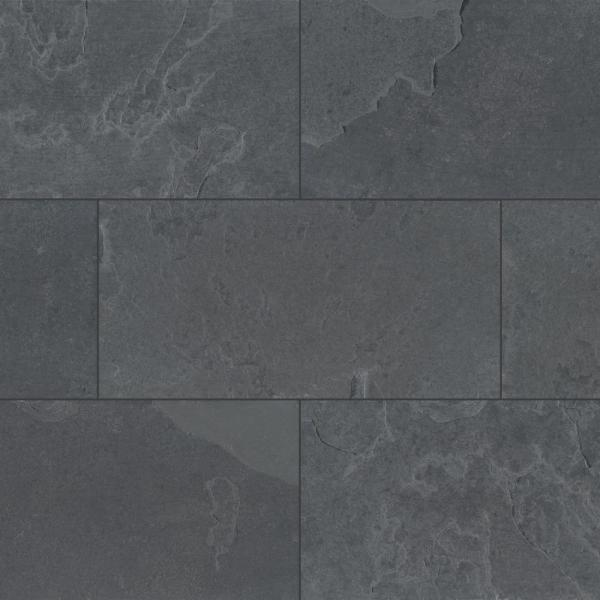 X 24 In Gauged Slate Floor And, Charcoal Slate Fireplace Hearth Tile