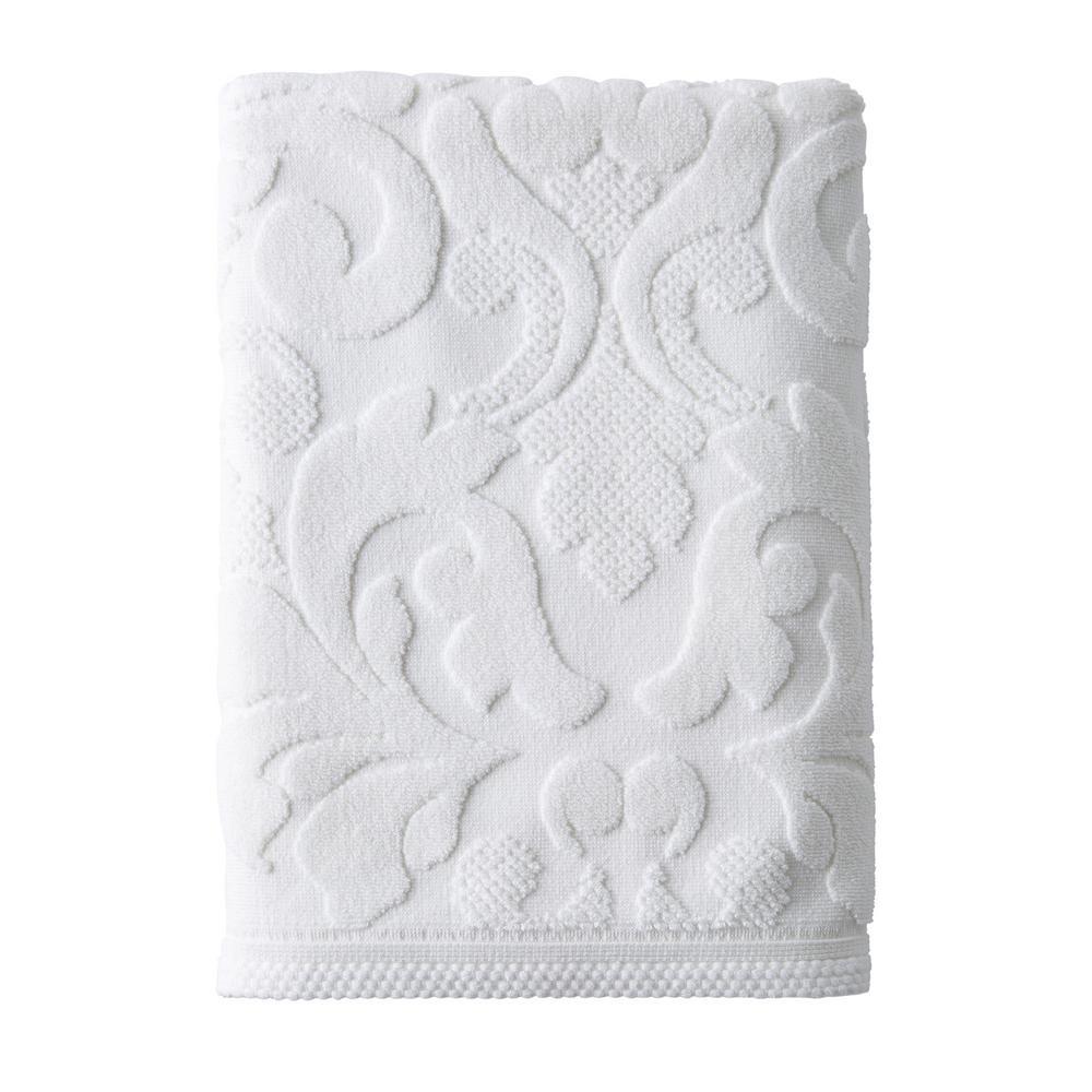 The Company Store Fleur Supima Cotton Single Bath Sheet in White