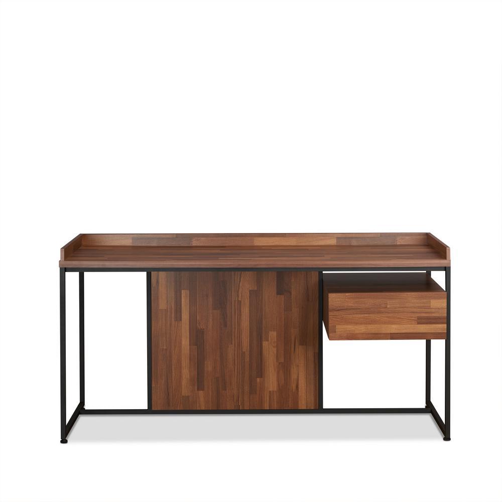 Sara Walnut And Sandy Black Desk By Acme Furniture