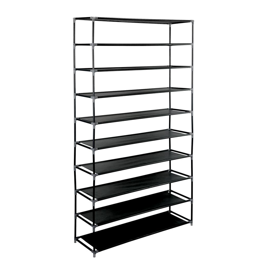 Simplify 50 Pair Black Shoe Rack