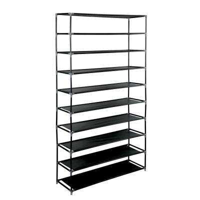 50 Pair Black Shoe Rack