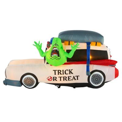 3.7 ft. Ghostbusters Ecto 1 with Slimer Halloween Inflatable