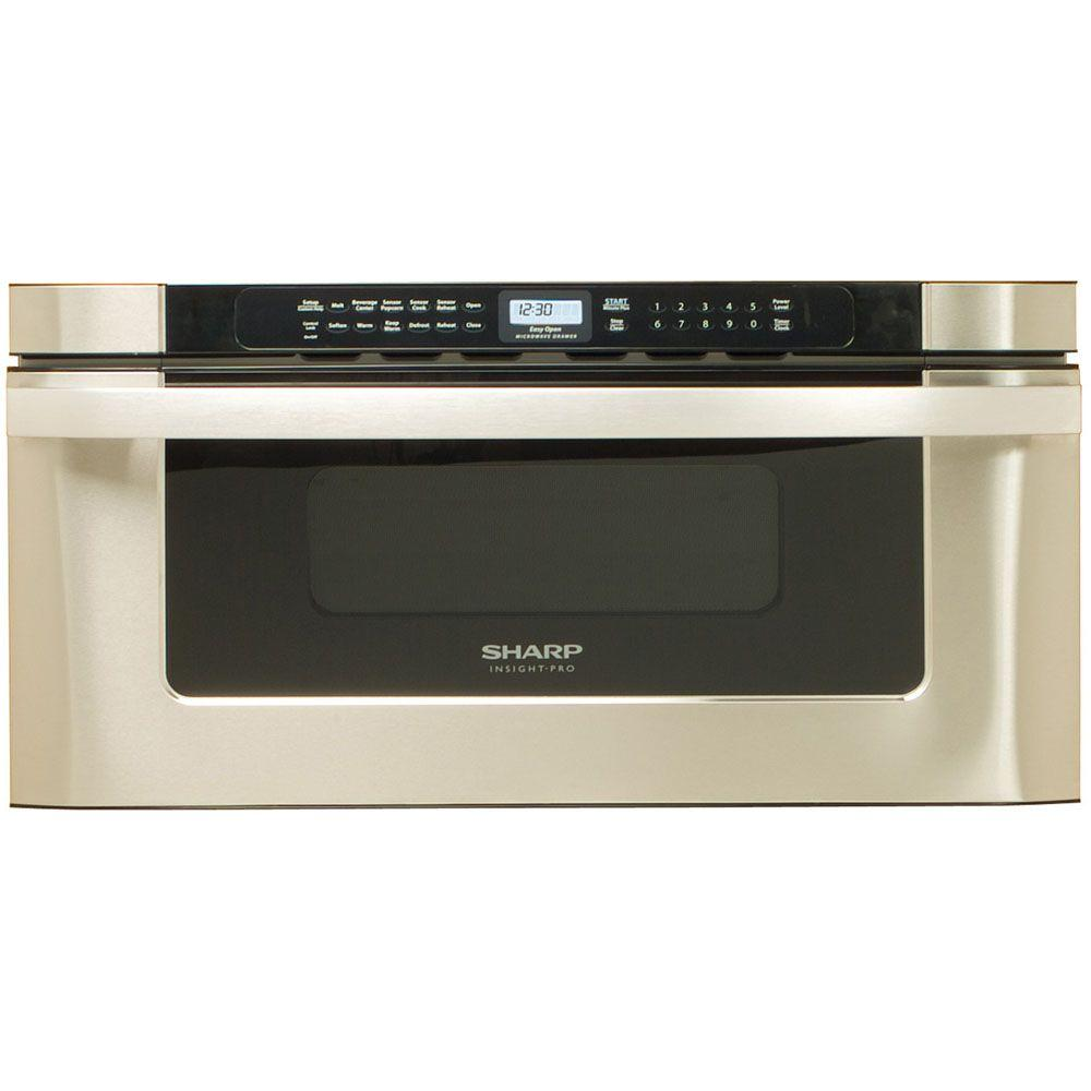 Sharp Refurbished Insight Pro 1.2 cu. ft. Microwave Drawer in Stainless Steel with Sensor Cooking-DISCONTINUED